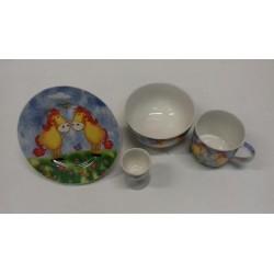 Juego de porcelana 4 pieças