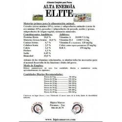PIENSO ALTA ENERGIA ELITE SACO VERDE