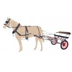 Carro para Caballo con Freno Galvanizado