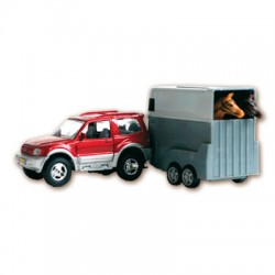 Juguete: coche jeep con remolque