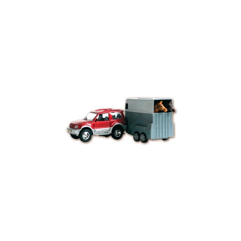Juguete: coche jeep con remolque - EQUITACION Y PIENSOS HÍPICA