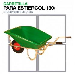 CARRETILLA PARA ESTIERCOL S1065 CAPACIDAD 130L